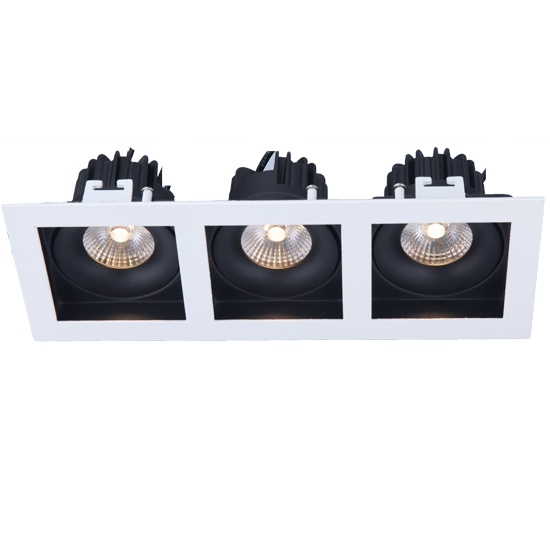 Fixed Triple heads 3*10W led downlight cutout 252*88mm