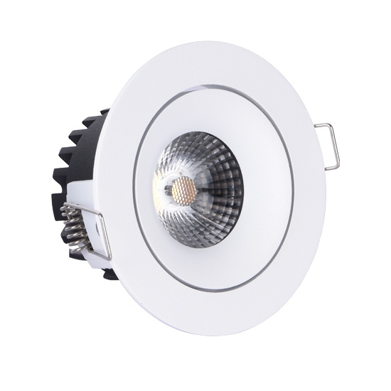 Height<55mm Adjustable 10W Warmdim led downlight cutout 83mm