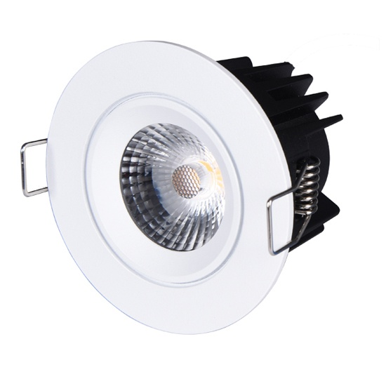 Fixed IP65 Fire rated led downlight cutout 68mm
