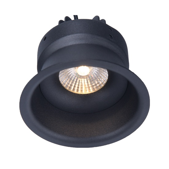 Anti-glare black 10W fixed led downlight cutout 83mm