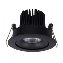 Tilt Texture Black 7W Downlight cutout 68mm