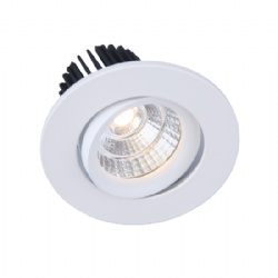Tilt Texture White 7W Downlight cutout 72mm 60 degree
