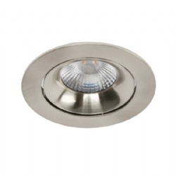 Tilt Nickel brush 10W Downlight cutout 90mm