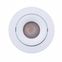 Tilt Texture White 10W Downlight cutout 90mm