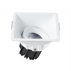 Tilt 10W / 12W Square Adjustable led downlight cutout 95mm