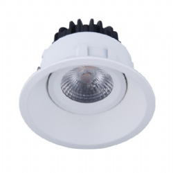 Fixed round shape white 10W led downlight cutout 83mm