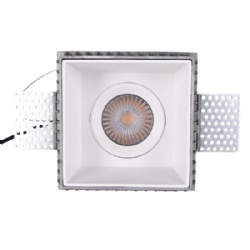 Trimless Square 10W 360 D adjustable led downlight cutout 95mm