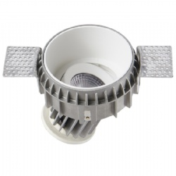 Trimless Round 10W 360 D adjustable led downlight cutout 95mm