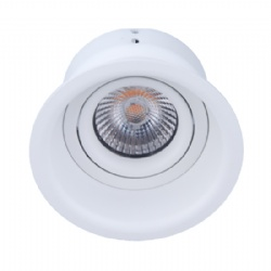 Anti-glare white 7W adjustable led downlight cutout 83mm