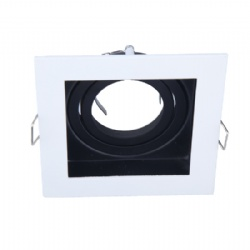 Square shape fixture for GU10 MR16 Cutout 88*88mm