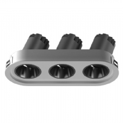 Triple heads Narrow Bezel adjustable lens led downlight