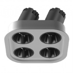 Four heads Narrow Bezel adjustable lens led downlight