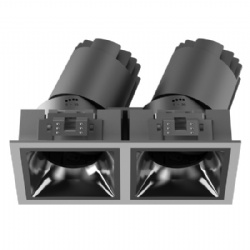 Double heads square shape narrow bezel led downlight