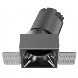 Single head square shape trimless led downlight