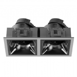 Double head fixture narrow bezel for module MR16 GU10